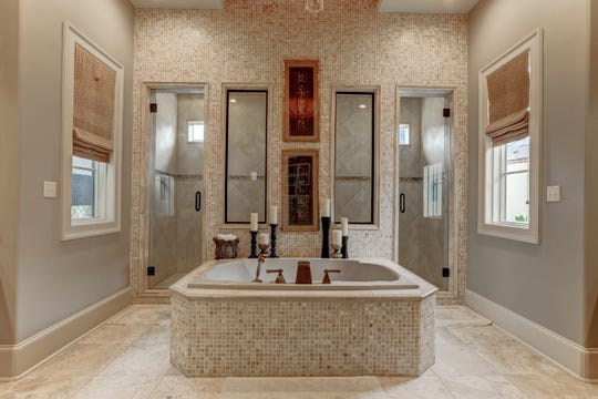 The master bath is a luxurious retreat.