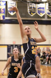 Hartland's Whitney Sollom scored a game-high 15 points in a 48-31 loss at Wayne Memorial on Tuesday, Feb. 19, 2019.