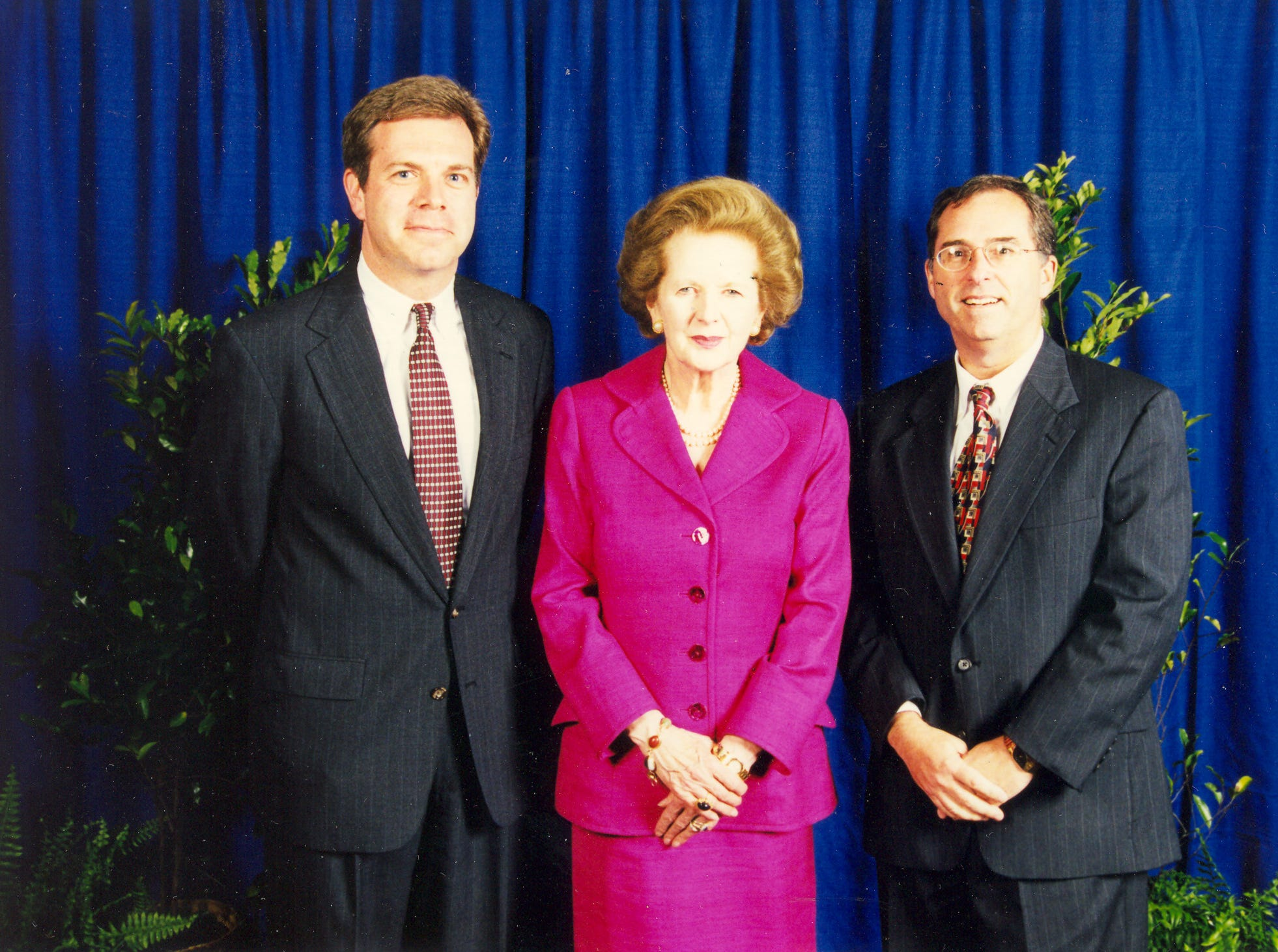 Kentucky Derby Festival's Mike Berry pictured with Margaret Thatcher.