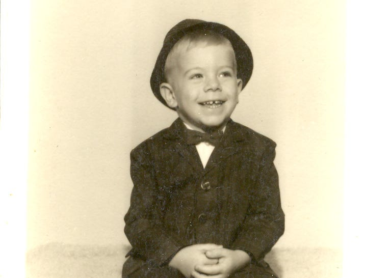 Mike Berry seen as a child. He's retiring as president and CEO of the Kentucky Derby Festival after the 2019 Festival.