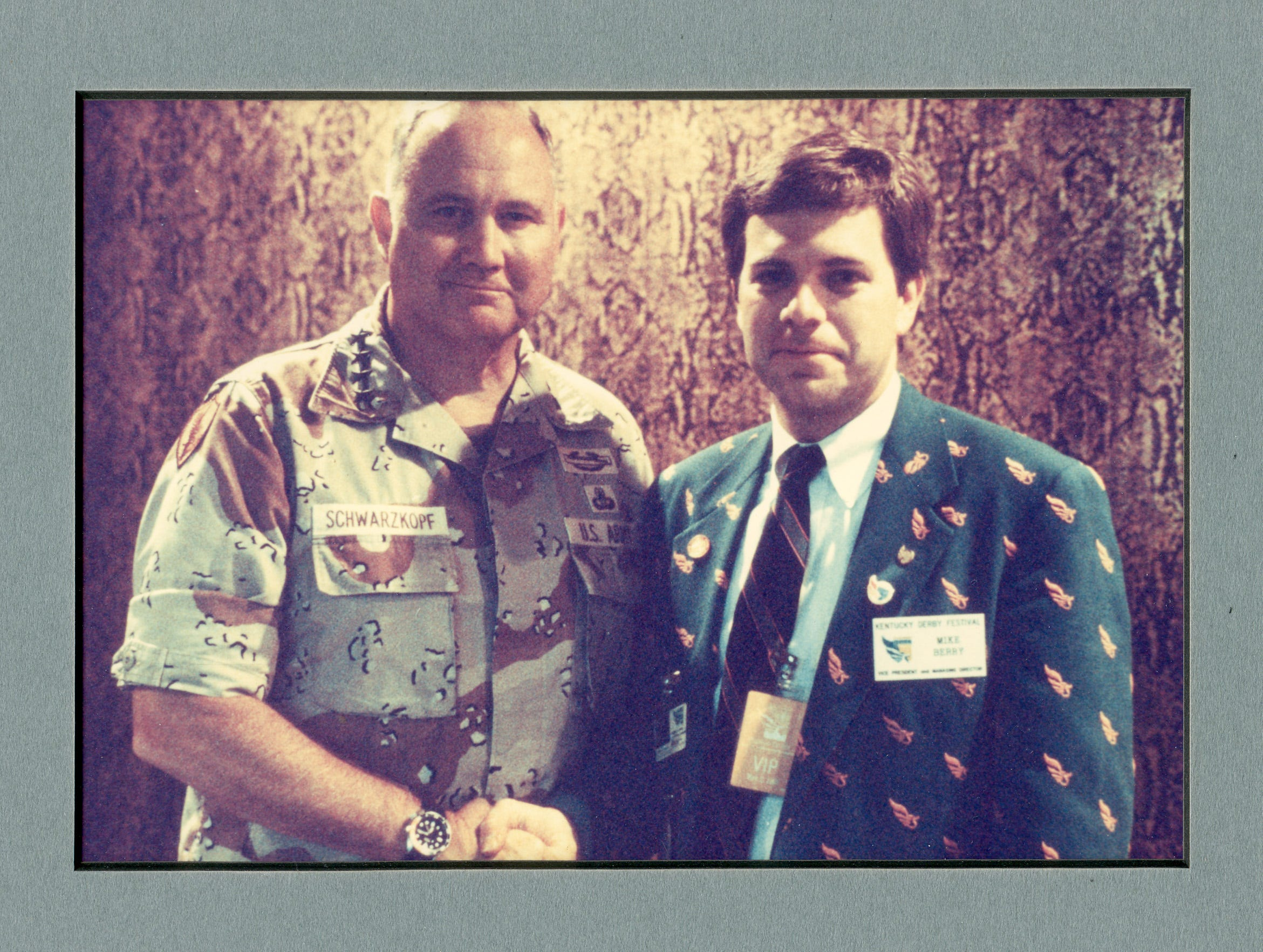 Mike Berry, president and CEO of Kentucky Derby Festival, pictured with General Norman Schwarzkopf.