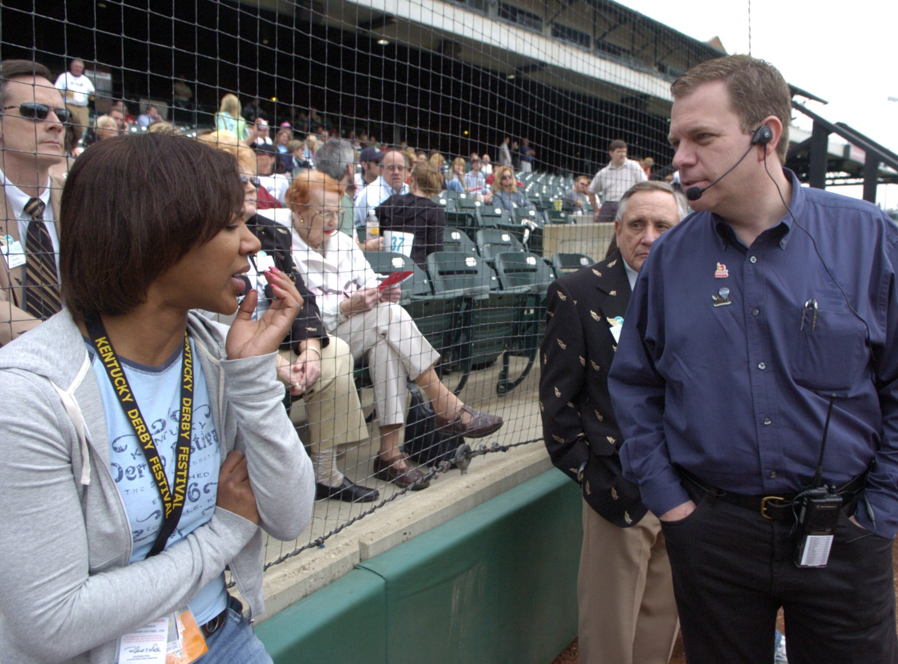 Mike Berry, president and CEO of the Kentucky Derby Festival, and Stacey Robinson, executive VP and chief of staff, pictured in 2006.