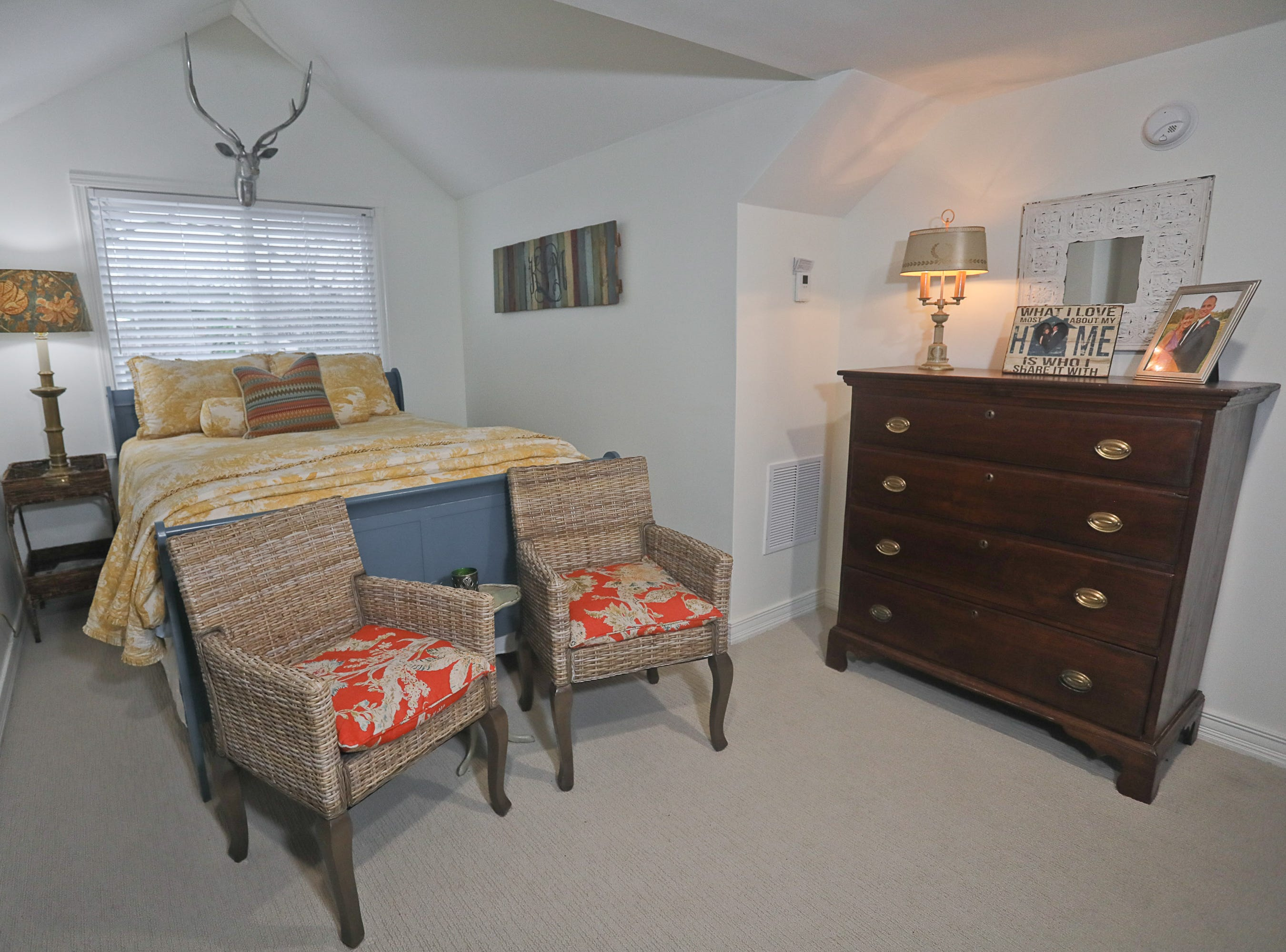 A guest bedroom at the home of Kelli Lorenzen in Louisville, KY. Feb. 12, 2019