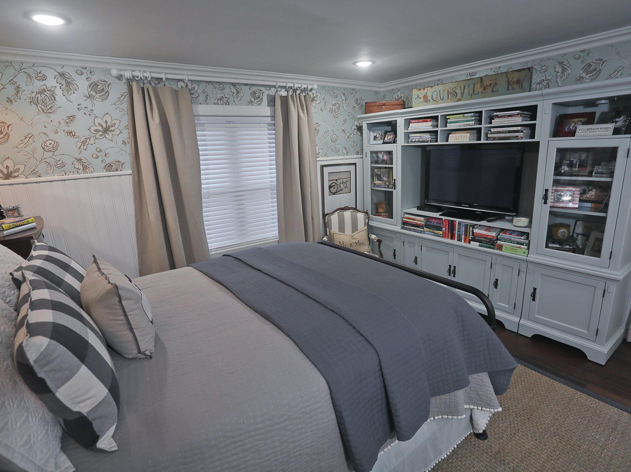 The owner's bedroom at the home of Kelli Lorenzen in Louisville, KY. Feb. 12, 2019