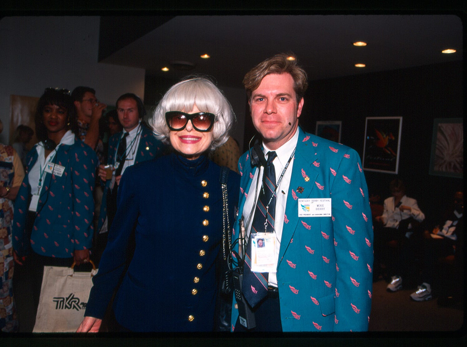 Mike Berry pictured with Carol Channing in 1996.