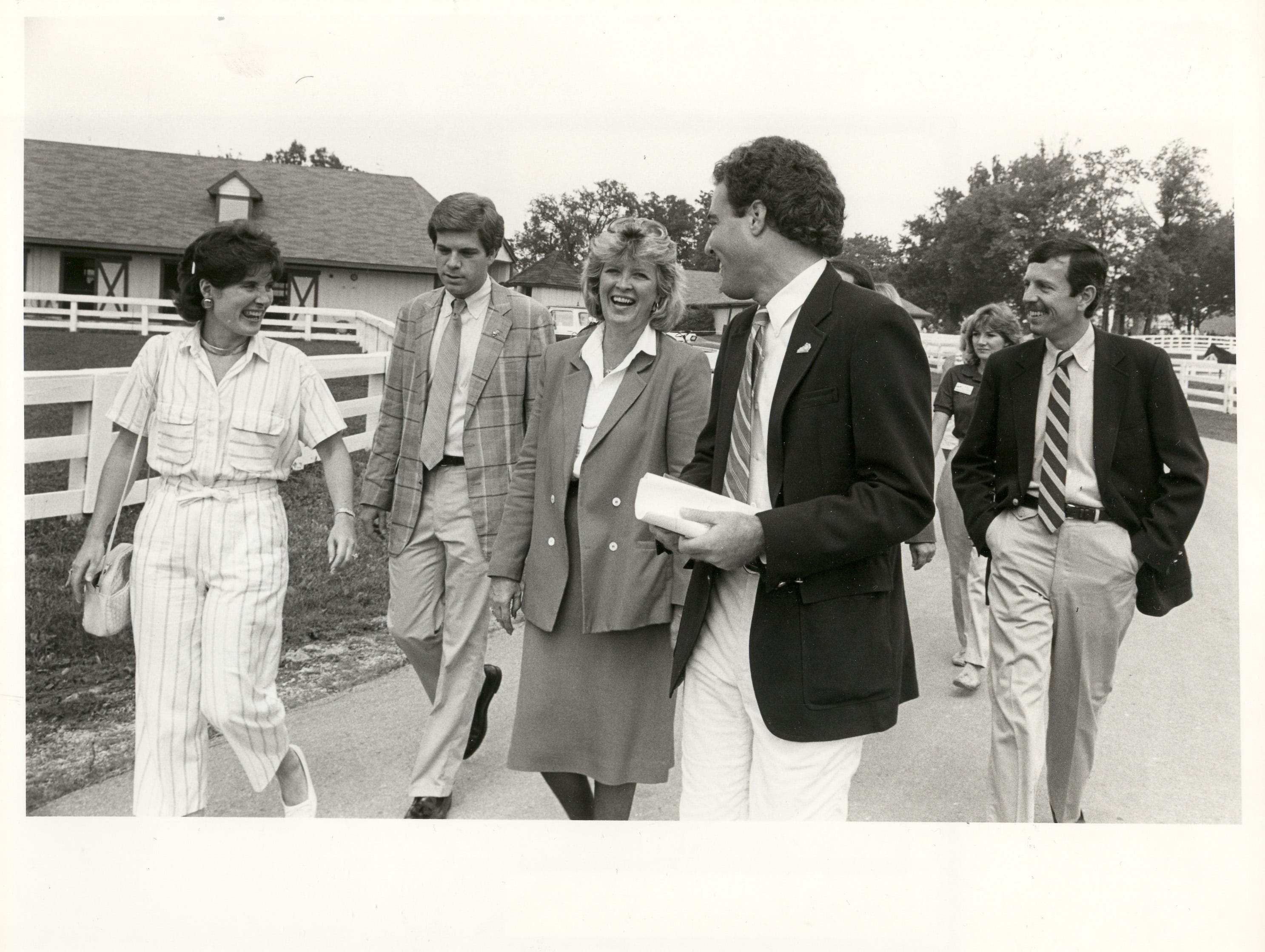 Mike Berry, second from left, seen with former Gov. Martha Layne Collins. Berry was Collins' administrative assistant and she she appointed him to the Kentucky Derby Festival Board when he was just 23 years old.