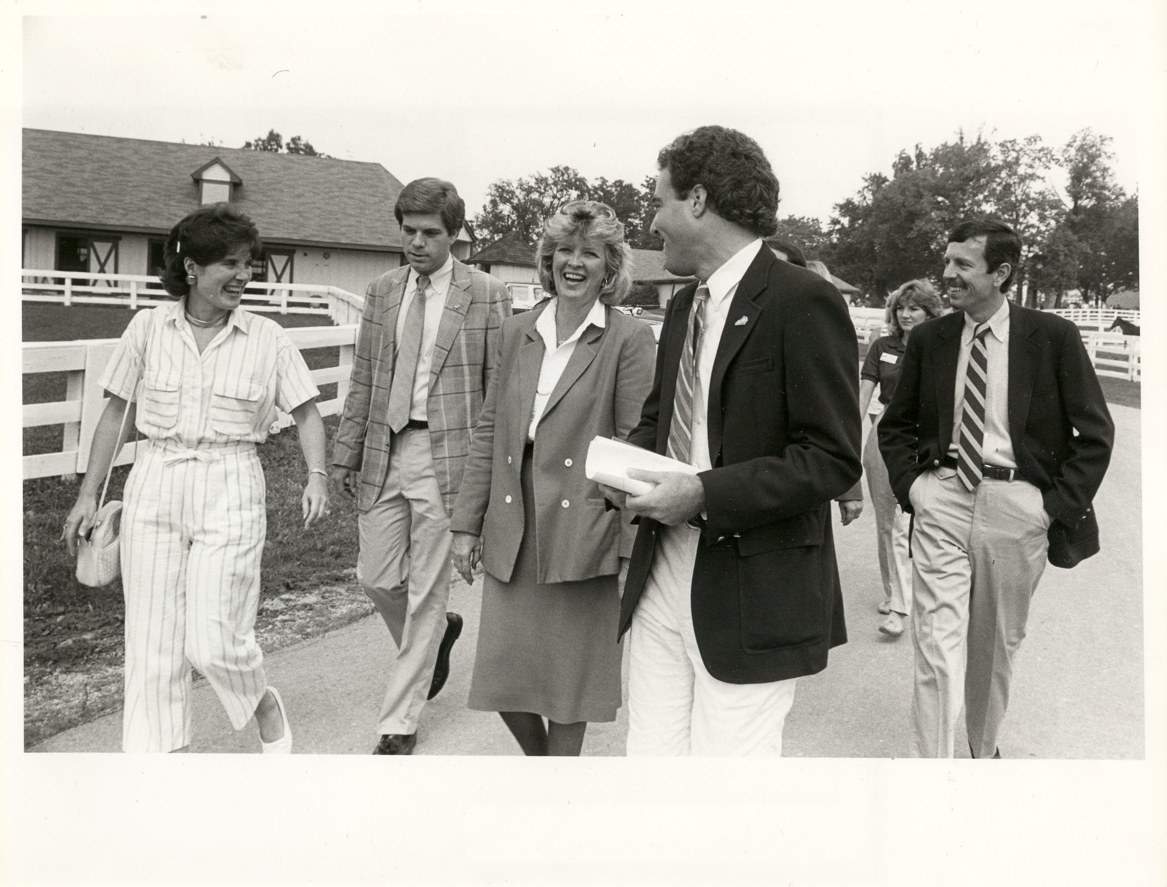 Mike Berry, second from left, seen with former Gov. Martha Layne Collins.