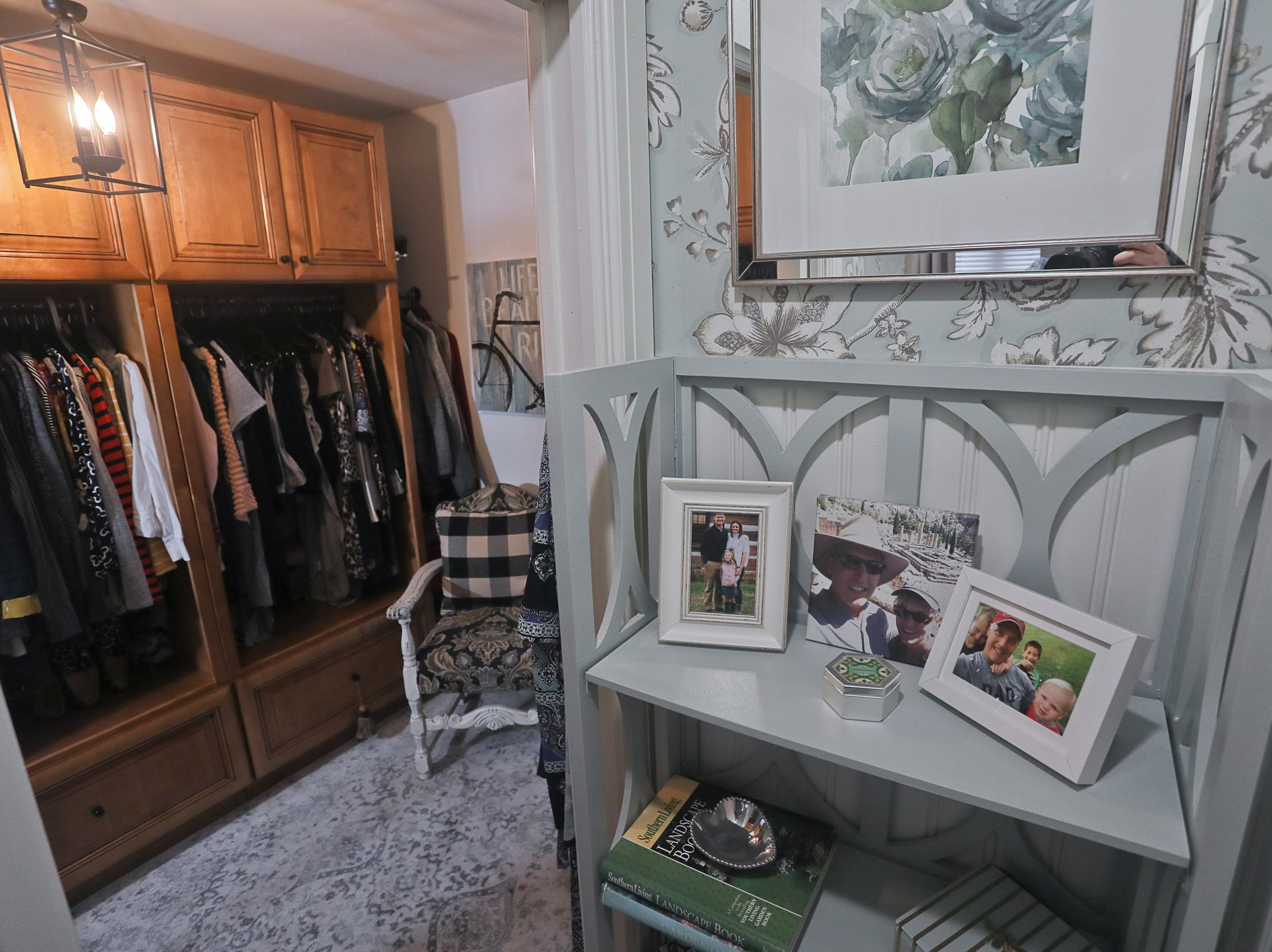 A walk-in closet at the home of Kelli Lorenzen in Louisville, KY. Feb. 12, 2019
