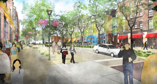 This rendering shows the developer's vision for the future of downtown Okemos