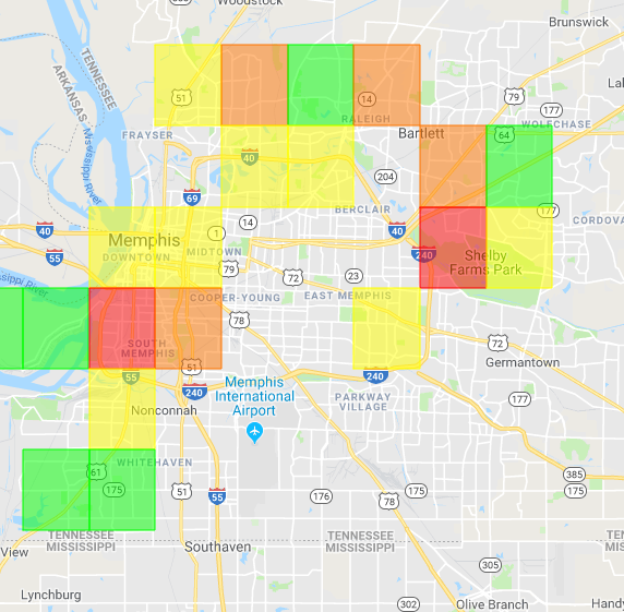 Thousands without power across Memphis following heavy rains