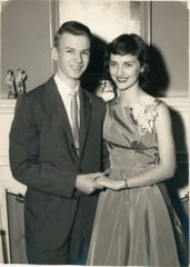 Just married 'Heathens': Colin Heath and Kaye Garren Heath, circa 1958.