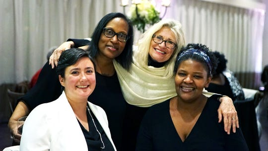 Vintage901 founder Stephanie Ferreira (second from the left) with Regina Myers, Nicole Treadwell and Melodie Myers at last year's festival.