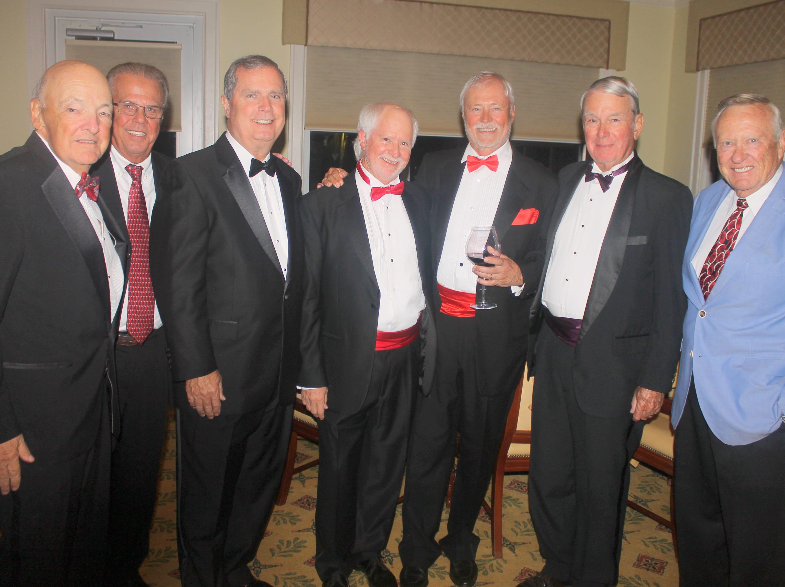 Such dapper looking gentlemen: Randle Grossman, Jerry Defibaugh, Jeff Dywan, Ed Crane, Bill Rogers, Dave Walsh and Silky Sullivan.