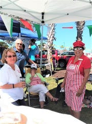 The Italian American Society of Marco Island  was well represented at the Kiwanis Car Show on Sunday with their coffee and homemade desserts as well as a Bake table. Carol Lindstrom, Ann Sepe and Ginny Morris were ready to help.