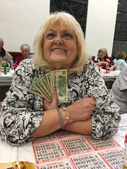 The Knights of Columbus San Marco Council #6344 held their weekly Bingo fundraiser on Feb. 14 in the San Marco Parish Center. The big jackpot winner is Bonnie Michalik of Marco Island.