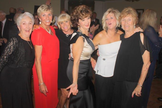 Fun on the dance floor! Madeline Zorzi, Karen Oldenburg, Betsy Zinner, Candy Seward, Sharon Cook and MaryAnn Cassidy