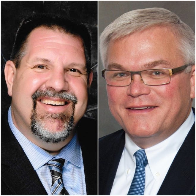 Mequon Aldermen Brian Schneider, left, and John Wirth will compete to become mayor of Mequon in the April 2 election.