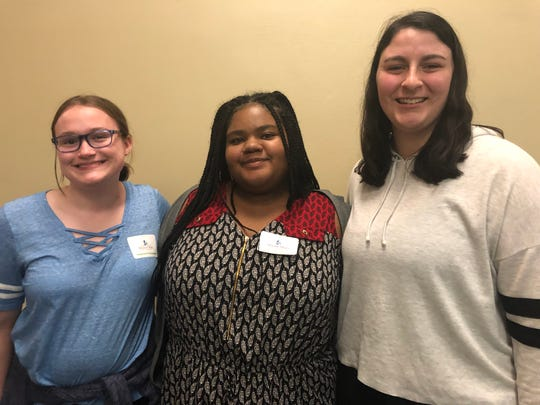 Stephanie Christiansen, a junior at Oconomowoc High School, Tayor Robinson, a senior at Divine Savior Holy Angels, and Maggie Bock, a junior at East Troy, attended Mount Mary's Compass Program information session.