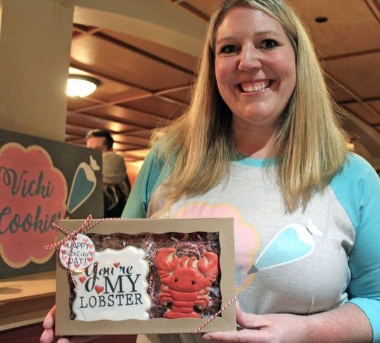 Vicki Gentz sells elaborately decorated cookies through her business, Vicki Cookies.
