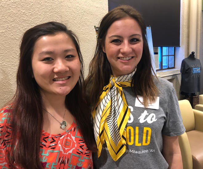 Margaret Dishaw and Ali Bubloni are student ambassadors at Mount Mary University and are prepared to guide undecided students toward their future career paths.