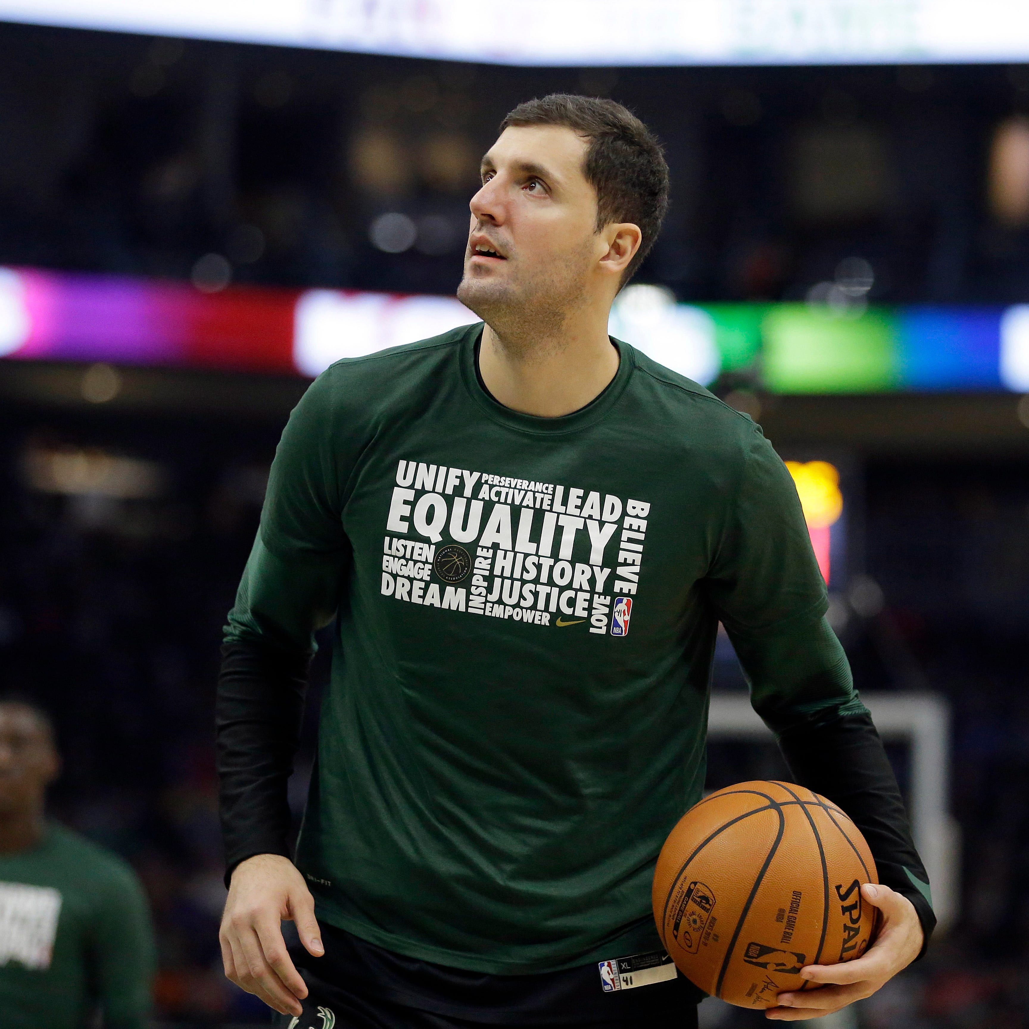 New Bucks forward Nikola Mirotic settles in, keeps busy during NBA all-star break