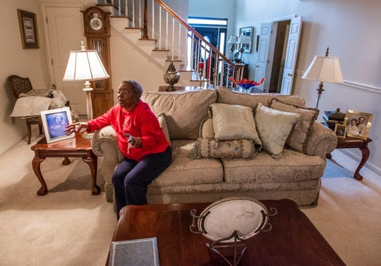 Lois Woodard, 72, is interviewed at her home in Montgomery, Ala., on Wednesday February 20, 2019. Woodard was having her finances handled by a friend of her husband after he died. That friend was found guilty of theft and will have to pay Woodard $214,450 and deed her home back to her.