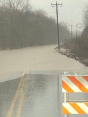 A picture of Bluebird Road in Wilson County Wednesday morning.