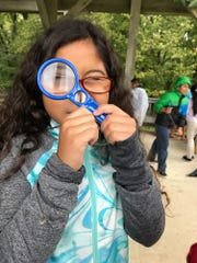 Children participate in a spring break program at Warner Park Nature Center.
