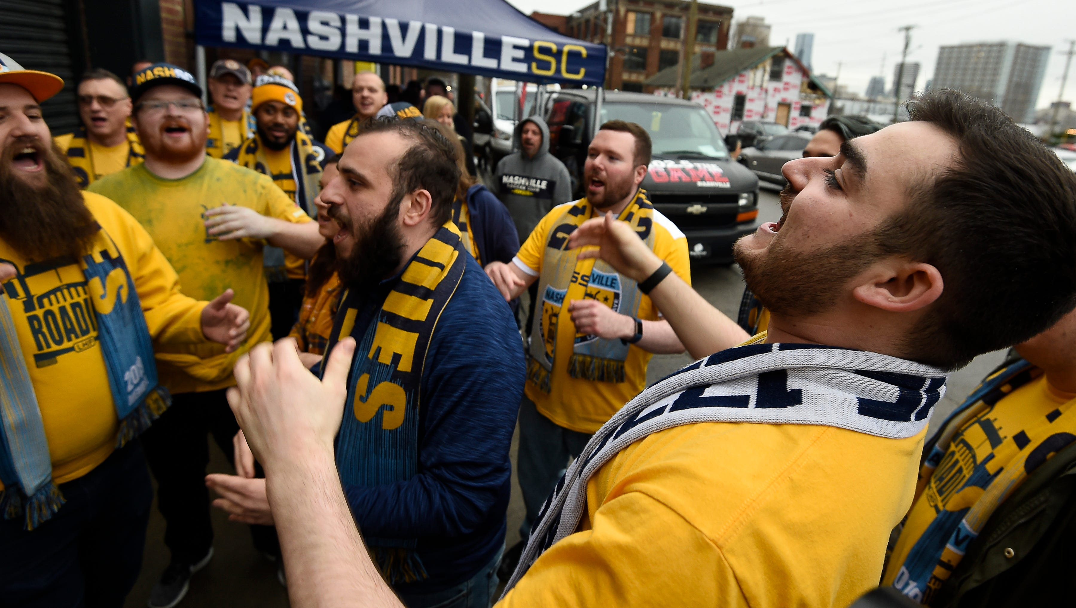 Angelo Todaro of the Roadies, the Nashville SC...