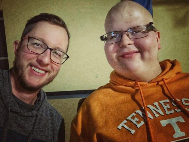 Erik Upshaw is pictured with Noah Meikrantz.