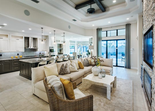 Serino model at Palazzo at Naples offers spacious floor plans.