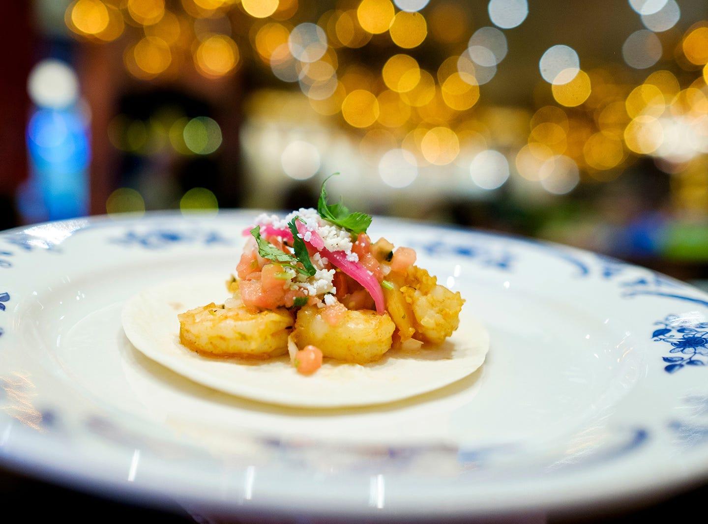 Shrimp taco at Rocco's Tacos & Tequila Bar.