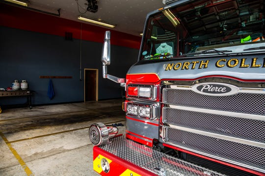 A firetruck in the garage of the North Collier Fire Control and Rescue District in North Naples on Wednesday, Feb. 20, 2019. The station has plans to relocate to a new station.
