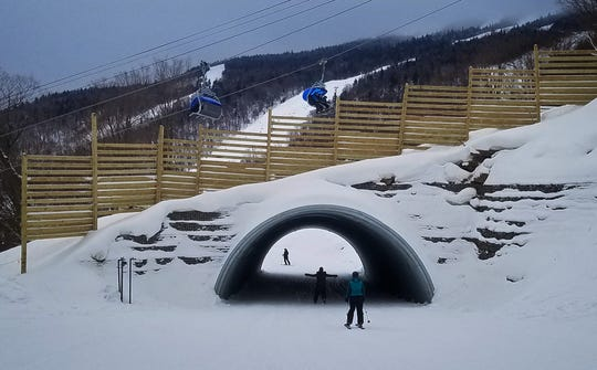 Four new tunnels at Killington help the flow at busy intersections where trials of different levels merge together.