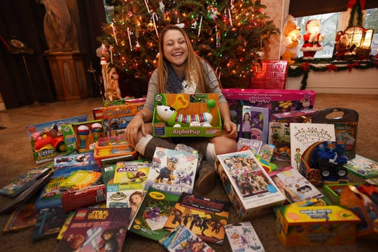 Dominique Franco at her home in Park Ridge in December 2015, when she organized a  fundraiser and toy drive to benefit children with cancer.