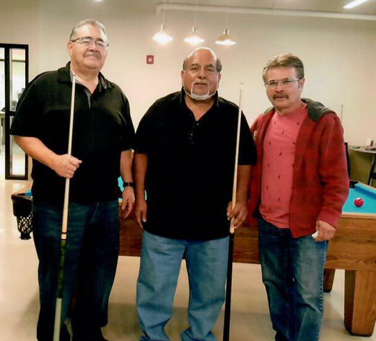 Pictured left to right are January 2019 winners John Arsola, first place, Rudy Tirre, second place and Andy Chavira, third place.