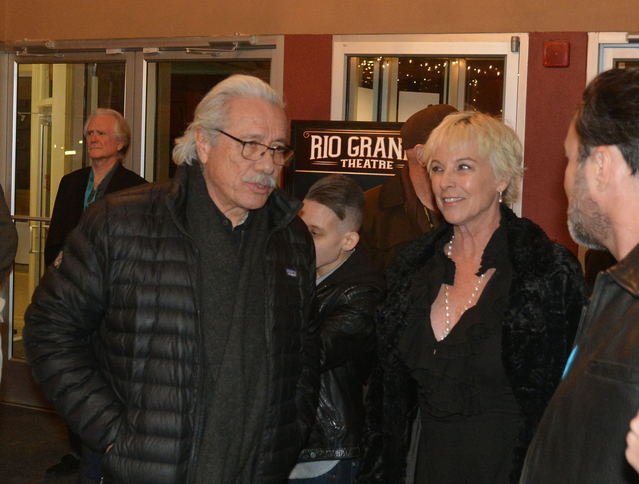 """Edward James Olmos and Kathleen Quinlan arrive at the Rio Grande Theatre for a screening of """"The Ballad of Gregorio Cortez"""" during this year's Las Cruces International Film Festival."""