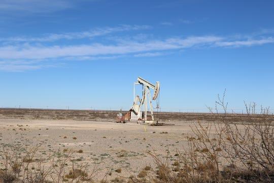 An idle pumpjack near Artesia.