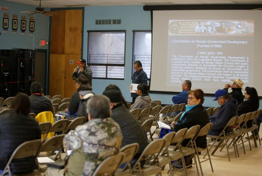 Public comments were collected during the listening session about Navajo government reform on Wednesday at the Shiprock Chapter house.