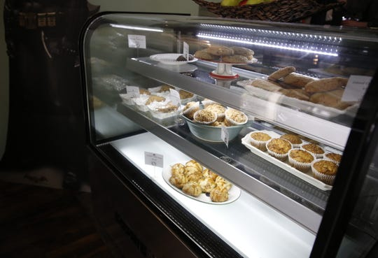 Baked goods are displayed Wednesday in the Cosmic Cafe.