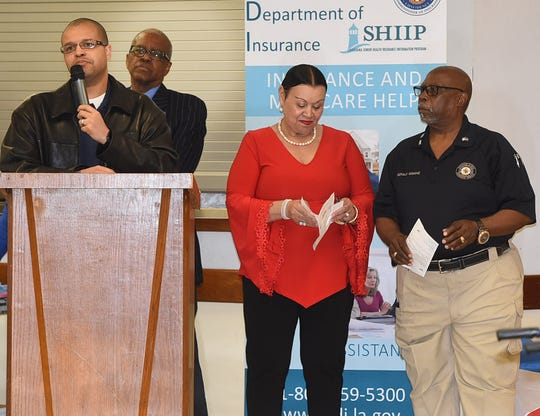 Dr. Kevin Guillory was one of the guest speakers at the Parish Life Committee's  Elderly  Awareness Seminar held Wednesday at St. Ann's Church Hall in Mallet.