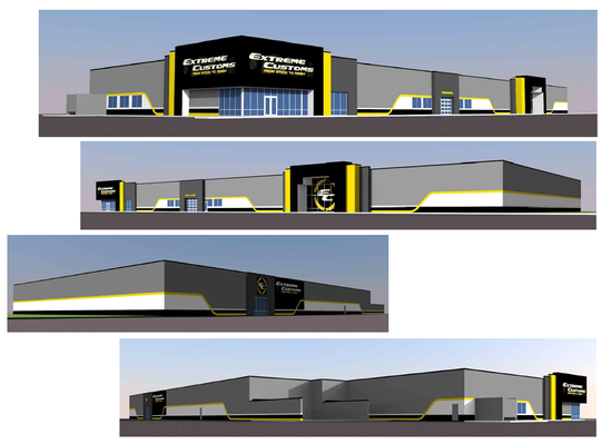 The potential makeover of the former JCPenney building is seen in renderings from Adam Heindel of Vision Architecture. Extreme Customs, an Oshkosh-based custom tire, rim and auto accessory store, may occupy the vacant space in Aviation Plaza off South Park Avenue.