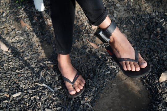 Rosa, an asylum seeker from Guerrero, was detained for three nights in San Ysidro before she was released with a GPS monitor attached to her ankle. She wore the monitor for nearly three months.