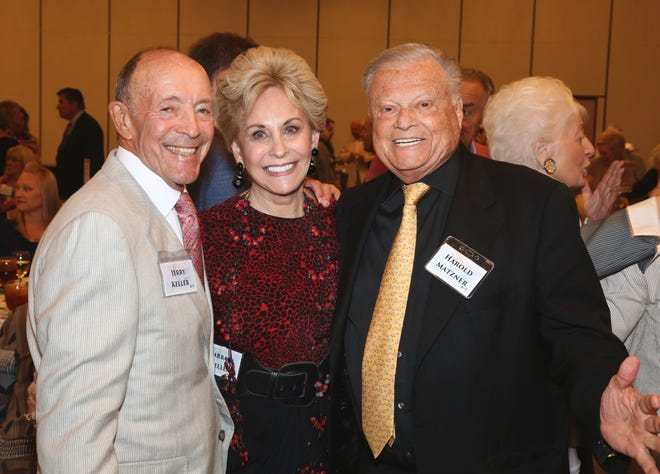 Jerry and Barbara Keller (left) with Harold Matzner.