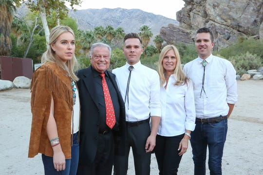 "The family of the late tribal chairman Richard Milanovich were joined by Harold Matzner as they toured the familiar canyon sometimes referred to as ""Mother Nature's ballroom."" From left:Tristan Milanovich, Matzner, Reid Milanovich, Melissa Milanovich and Scott Milanovich."