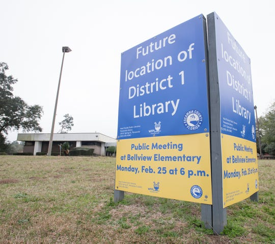 Escambia County will be holding a public input meeting Monday about its plans for a new public library in Bellview.