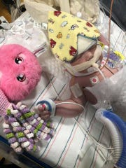 Ellie DeBoard was born with a rare heart defect and will be unable to leave Shands Hospital in Gainesville for six to eight months.