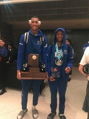 Shon Robinson (left) and final MVP Jordan Flowers