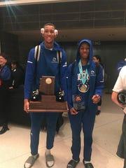 Shon Robinson (left) and final MVP Jordan Flowers