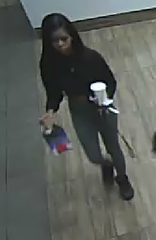 Female suspect, seen in the McDonald's